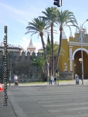 Seville, San Gil Church and Macarena Walls