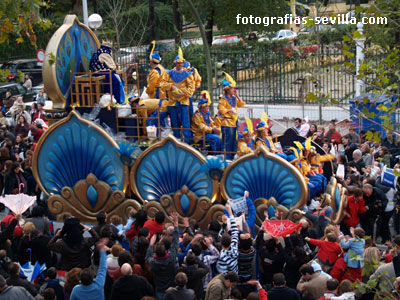 Fotos de la Cabalgata de Reyes magos de Sevilla
