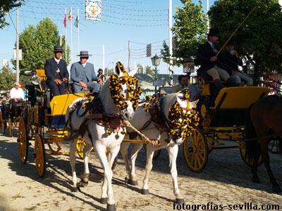 Carruaje en la Feria de abril de Sevilla